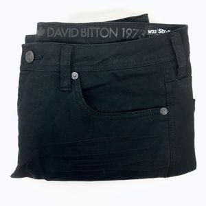 David Bitton > Six-X Straight Stretch Black Jeans